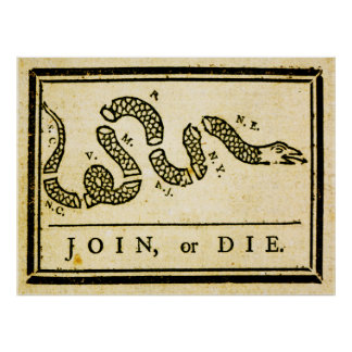 Join or Die 1754 Poster