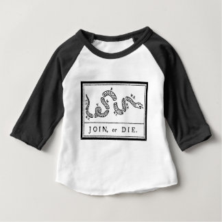 Join or Die - American Revolution - B Franklin Baby T-Shirt