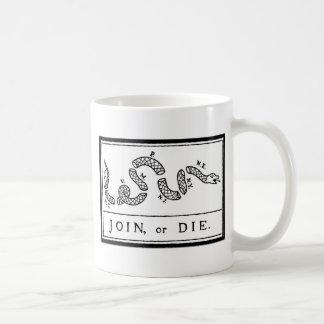 Join or Die - American Revolution - B Franklin Coffee Mug
