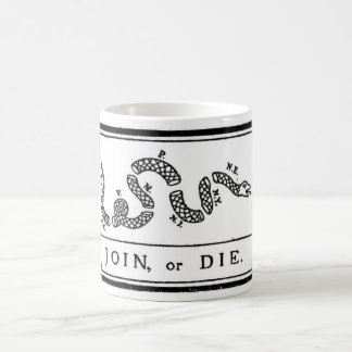 Join or Die Flag for American Revolutionary War Coffee Mug