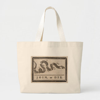 Join or Die Political Cartoon by Benjamin Franklin Tote Bag
