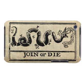 Join Or Die Woodcut on Declaration of Independence Barely There iPod Case