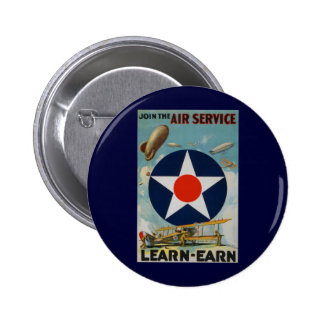 Join The Air Service 6 Cm Round Badge