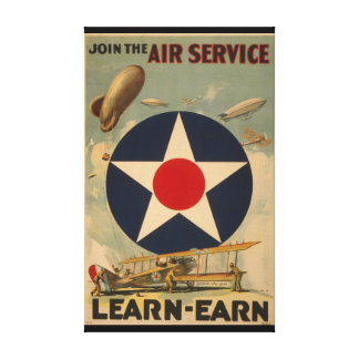 Join The Air Service Gallery Wrapped Canvas