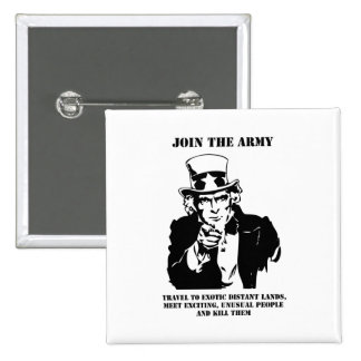 Join The Army 15 Cm Square Badge