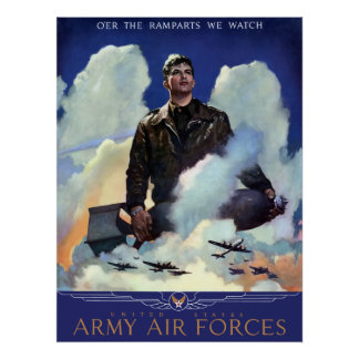 Join The Army Air Forces Poster