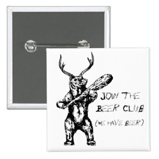 Join the Beer Club 15 Cm Square Badge