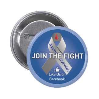 Join The Fight Against Diabetes 6 Cm Round Badge