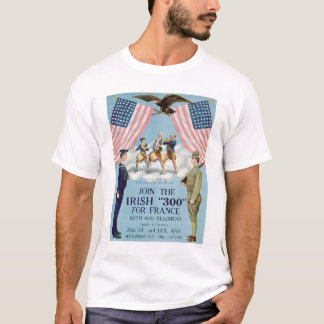 """Join the Irish """"300"""" for France (US02064) T-Shirt"""