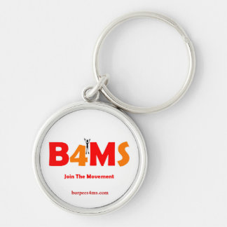 Join The Movement Burpees 4 MS Silver-Colored Round Key Ring