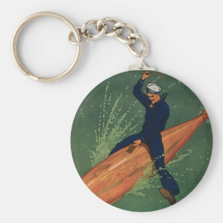Join the Navy Basic Round Button Key Ring