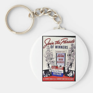 Join The Parade Of Winners, Win War Bonds Key Chains