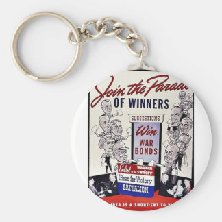Join The Parade Of Winners, Win War Bonds Keychain
