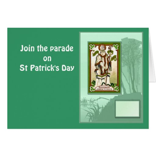 Join the parade on St Patrick's Day 1 Card
