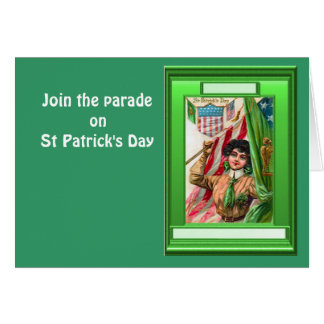 Join the parade on St Patrick's Day Greeting Card