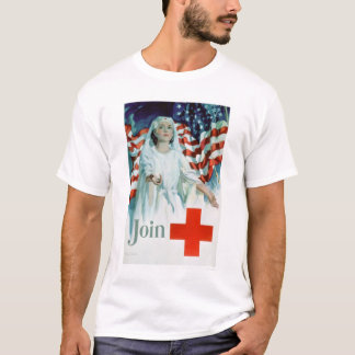 Join the Red Cross - American Flag (US00310) T-Shirt