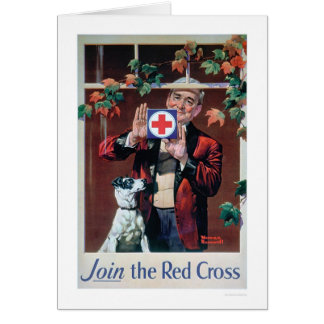 Join the Red Cross - Man with Dog (US00292) Greeting Card