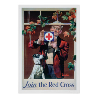Join the Red Cross - Man with Dog (US00292) Poster