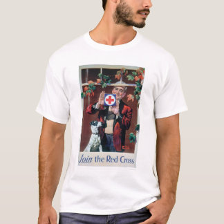 Join the Red Cross - Man with Dog (US00292) T-Shirt