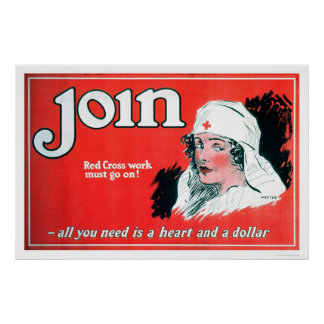 Join the Red Cross (US00027A) Poster