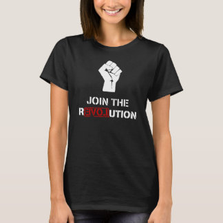 Join The Resistance - Black Womens T-shirt