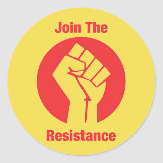 Join the resistance classic round sticker