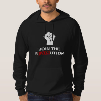Join The Revolution - Black Mens Fleece Hoodie
