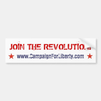 Join The Revolution! bumper sticker