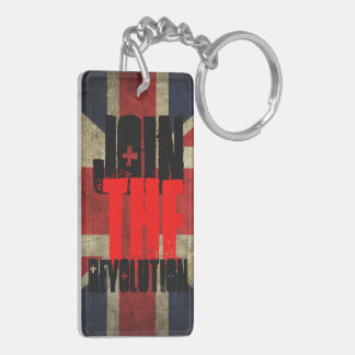 Join the Revolution Key ring Double-Sided Rectangular Acrylic Key Ring