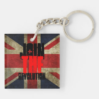 Join the Revolution Key ring - square Double-Sided Square Acrylic Key Ring