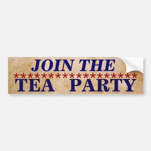 """""""Join the Tea Party"""" Bumper Sticker"""