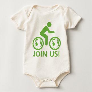Join Us Bike Fuel Baby Bodysuit