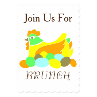 Join Us For Brunch 13 Cm X 18 Cm Invitation Card