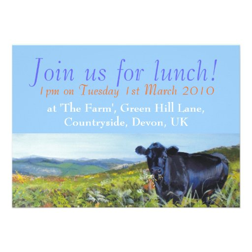 Join us for lunch! Personalisable Personalized Invitation