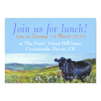 "Join us for lunch! Personalisable 5"" X 7"" Invitation Card"