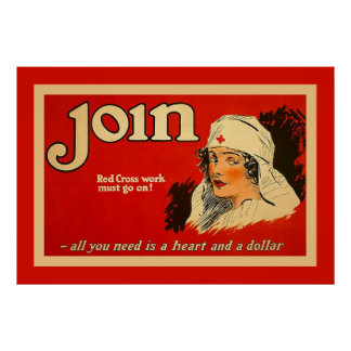 Join ~ Vintage Nurse WW1 Poster