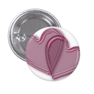 Joined Hearts 3 Cm Round Badge