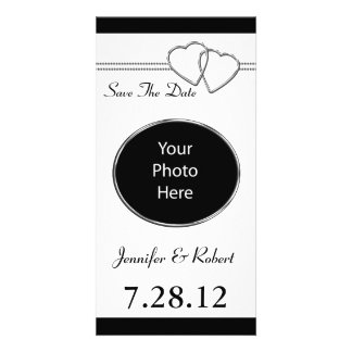 Joined Hearts Save The Date Photo Cards