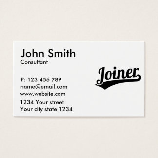 Joiner Business Card
