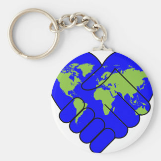 Joining hands key ring