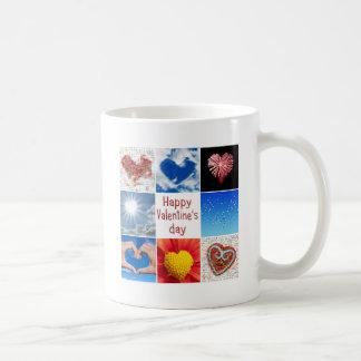 "Joining heart ""Happy Valentine' S day "" Basic White Mug"