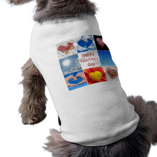 """Joining heart """"Happy Valentine' S day """" Pet T Shirt"""