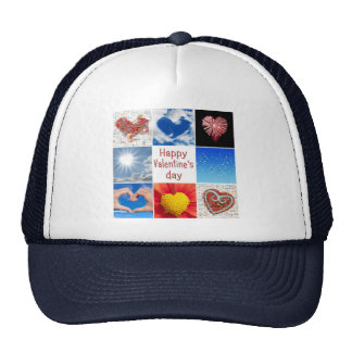 "Joining heart ""Happy Valentine' S day "" Trucker Hat"