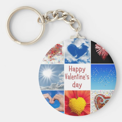 """Joining heart """"Happy Valentine' S day """" Keychains"""