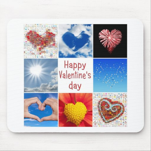 """Joining heart """"Happy Valentine' S day """" Mouse Pads"""