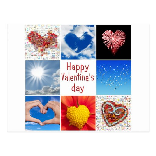 """Joining heart """"Happy Valentine' S day """" Postcard"""