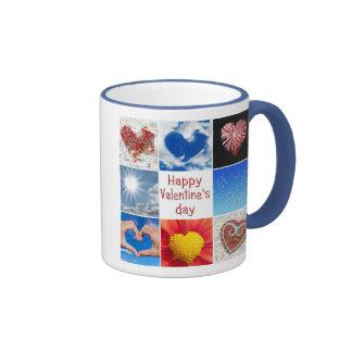 "Joining heart ""Happy Valentine' S day "" Ringer Mug"