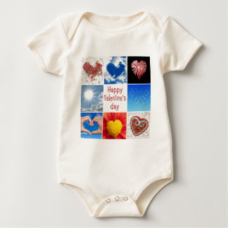 """Joining heart """"Happy Valentine' S day """" Bodysuits"""