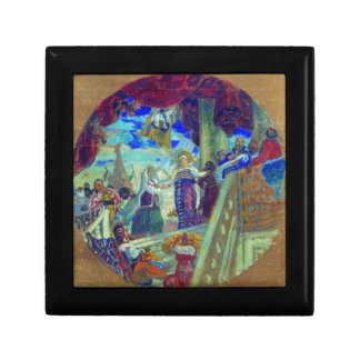 Joining Kazan to Russia Allegory Boris Kustodiev Gift Box