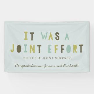 Joint Effort Couple's Baby Shower Banner // Aqua